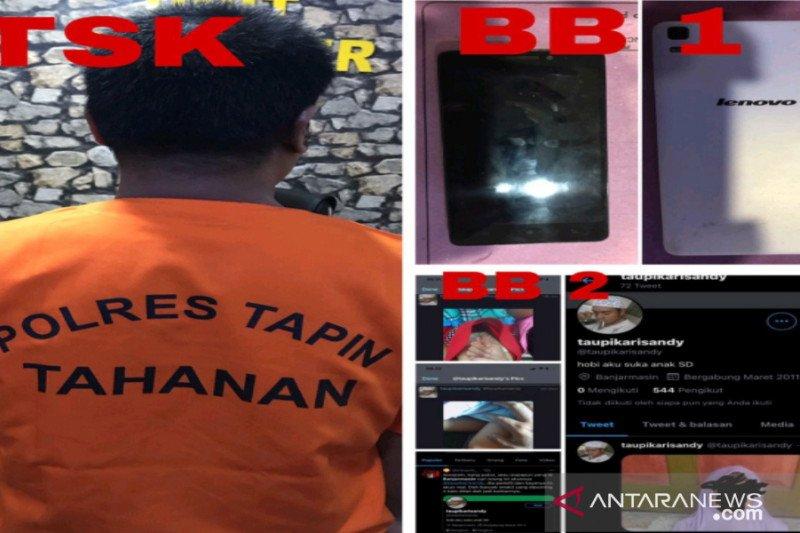 Polres Tapin tangkap pelaku penyebar konten asusila