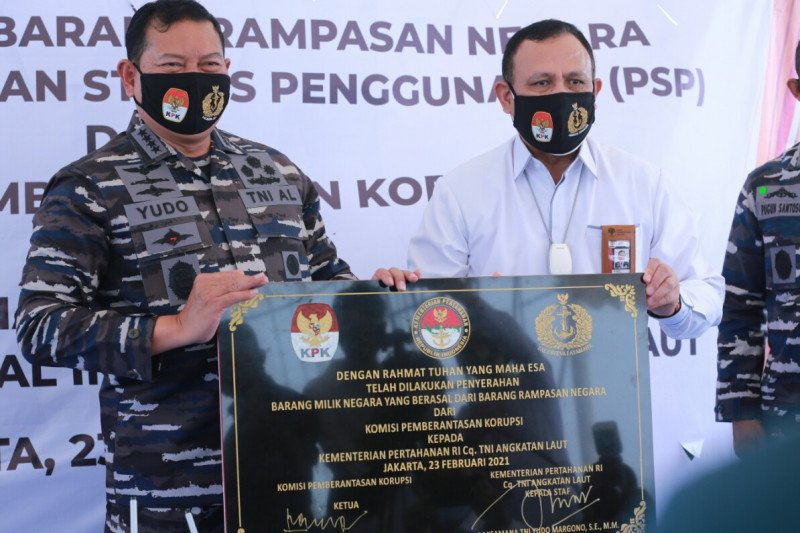 KPK serahkan aset tanah dan bangunan senilai Rp55 miliar ke TNI AL