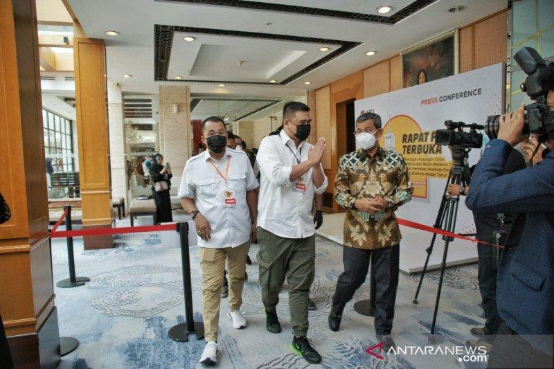 Pelantikan Bobby Nasution-Aulia Rachman pada 26 Februari 2021