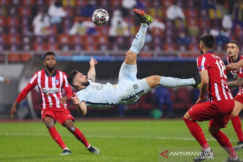 Gol akrobatik Giroud antar Chelsea menangi leg pertama atas Atletico
