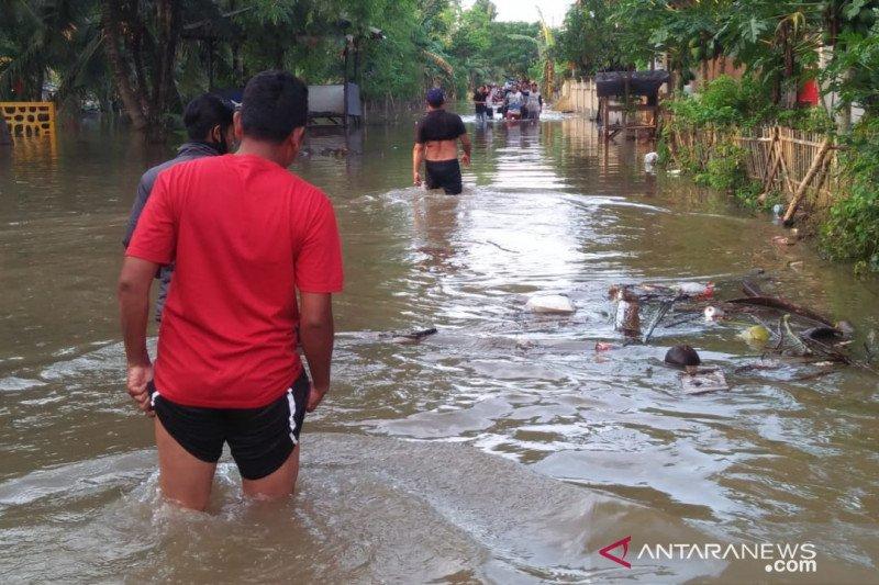 Banjir masih rendam 10 kecamatan di Kabupaten Bekasi