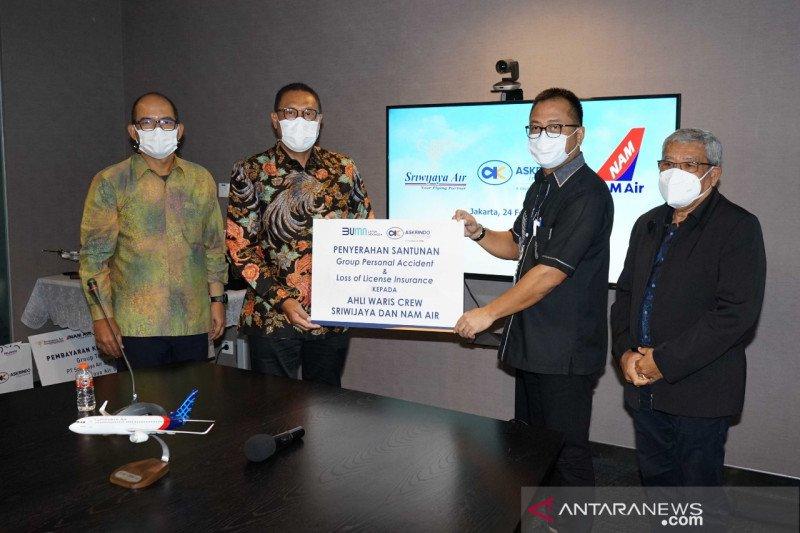 Askrindo serahkan santunan kepada kru Sriwijaya Air dan Nam Air