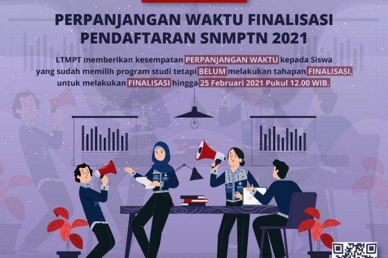 LTMPT perpanjang waktu finalisasi pendaftaran SNMPTN hingga Kamis