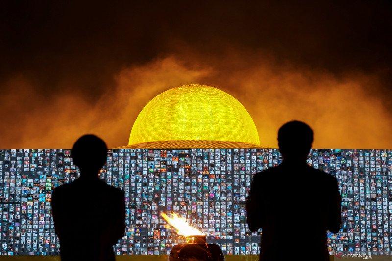 Peringatan Hari Makha Bucha saat pandemi COVID-19 di Thailand