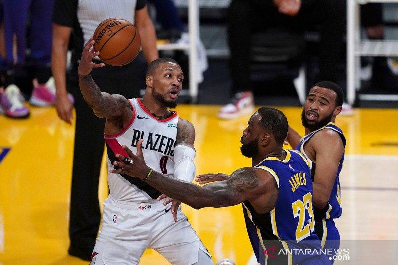 Tiga lemparan bebas Damian Lillard bawa Blazers atasi Heat