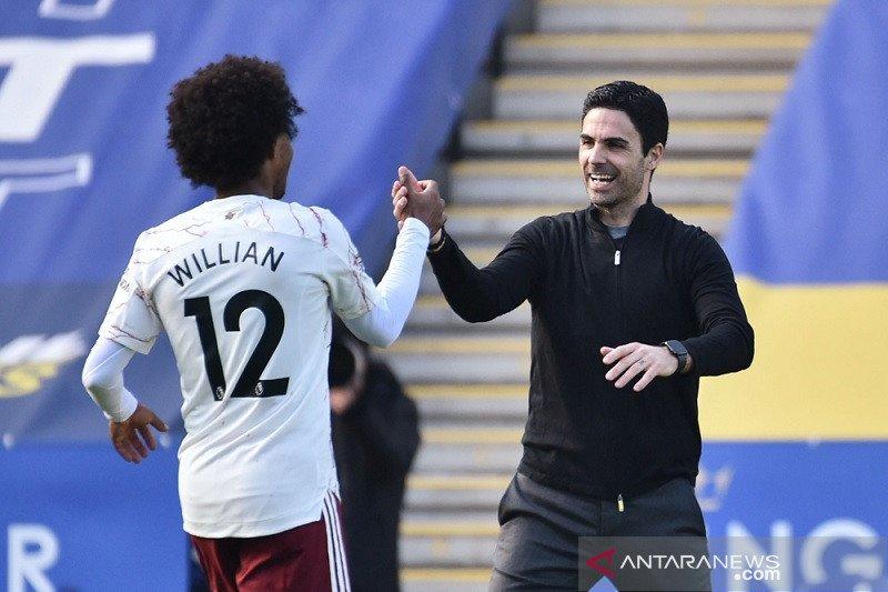 Arteta puji karakter dan ketenangan Arsenal saat tundukkan Leicester