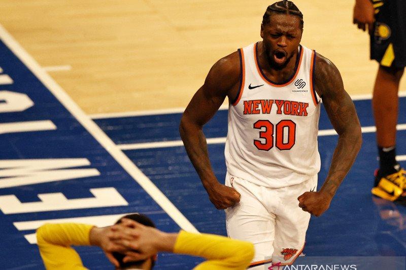 Knicks kalahkan tim tamu Pacers 110-107