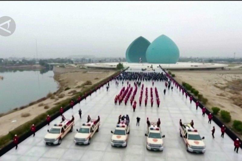 Sebuah pemakaman kenegaraan di Baghdad untuk korban ISIS