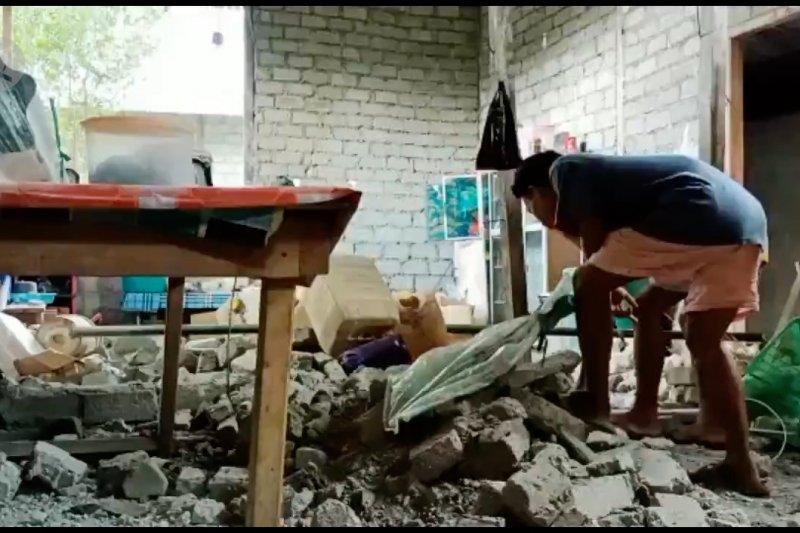 Sebanyak 222 bangunan rusak akibat gempa di Halmahera Selatan