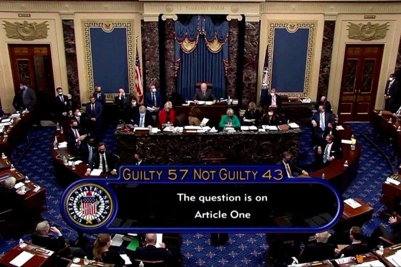 Senat AS membebaskan Trump dalam sidang pemakzulan