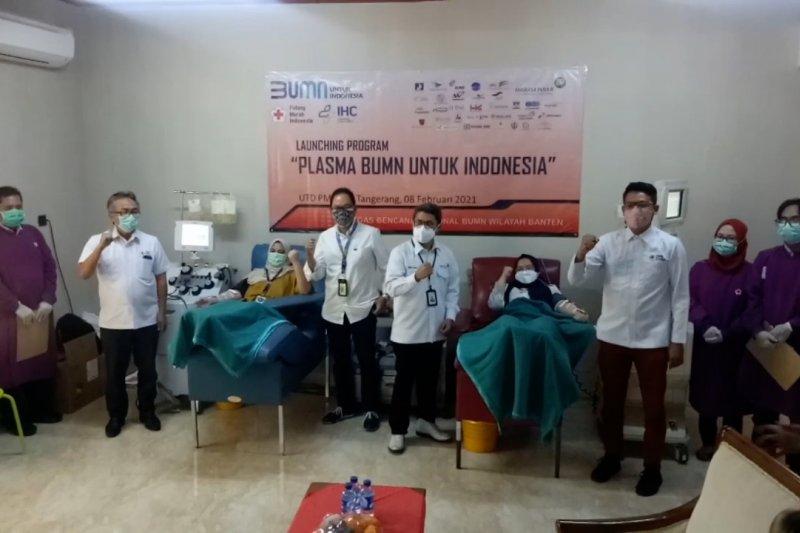 PMI Kota Tangerang terima pendonor plasma konvalesen dari BUMN