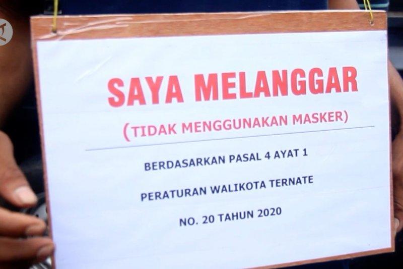 Langgar prokes, puluhan warga Ternate terjaring operasi yustisi
