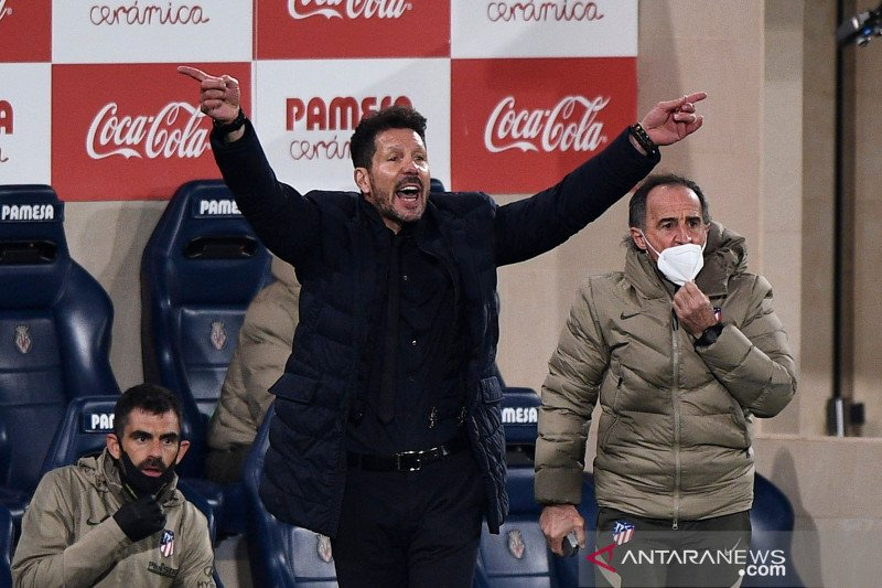 Diego Simeone: Atletico harus lebih baik sebelum lawan Real Madrid