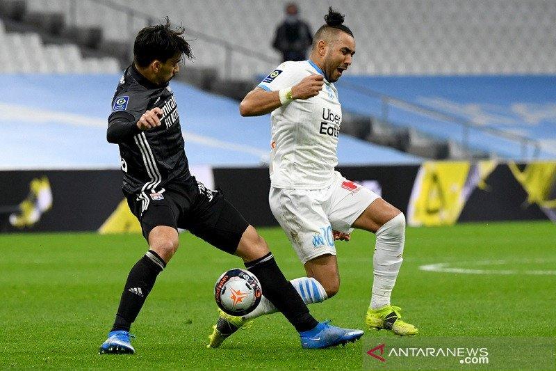 Marseille cuma imbang 1-1 lawan 10 pemain Lyon