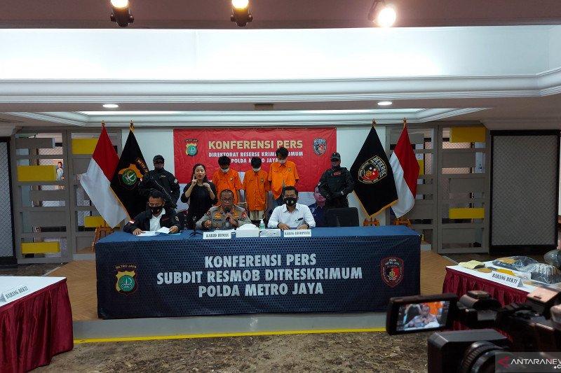 Polda Metro Jaya tangkap tiga maling motor kambuhan di Lampung