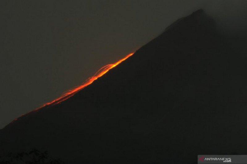 Gunung Merapi tujuh kali meluncurkan guguran lava