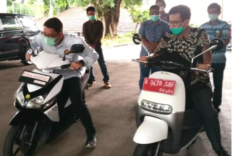Kementerian ESDM modifikasi sepeda motor bensin jadi listrik