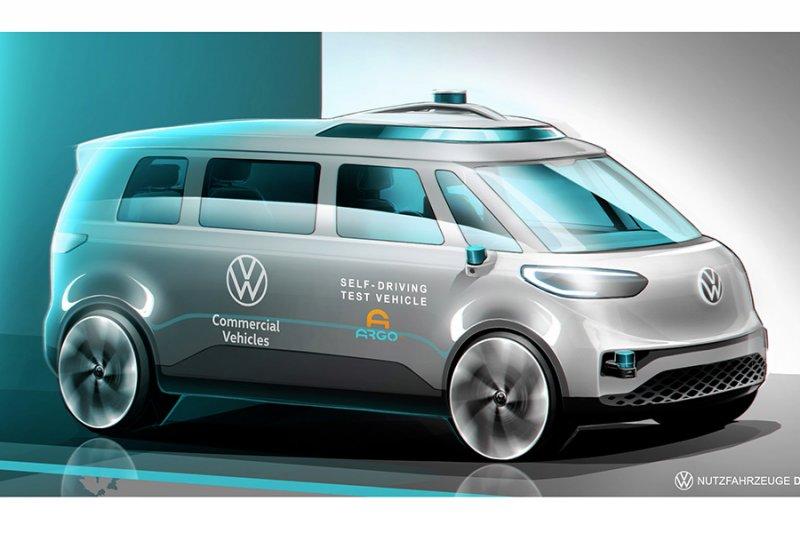 Mobil komersial listrik tanpa sopir VW ID.BUZZ hadir 2022