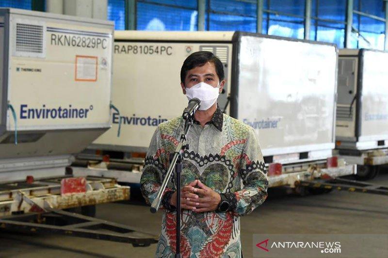 Sepuluh juta dosis bahan baku vaksin Sinovac kembali tiba di Indonesia