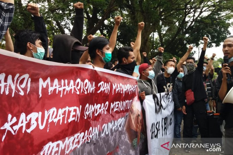 Aliansi Mahasiswa Sambas desak aparat bebaskan Jumardi