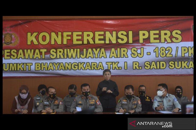 Tim DVI Polri identifikasi lagi satu korban Sriwijaya Air