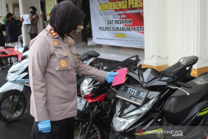 Polres Sukabumi Kota ciduk pelaku spesialis curanmor paling dicari