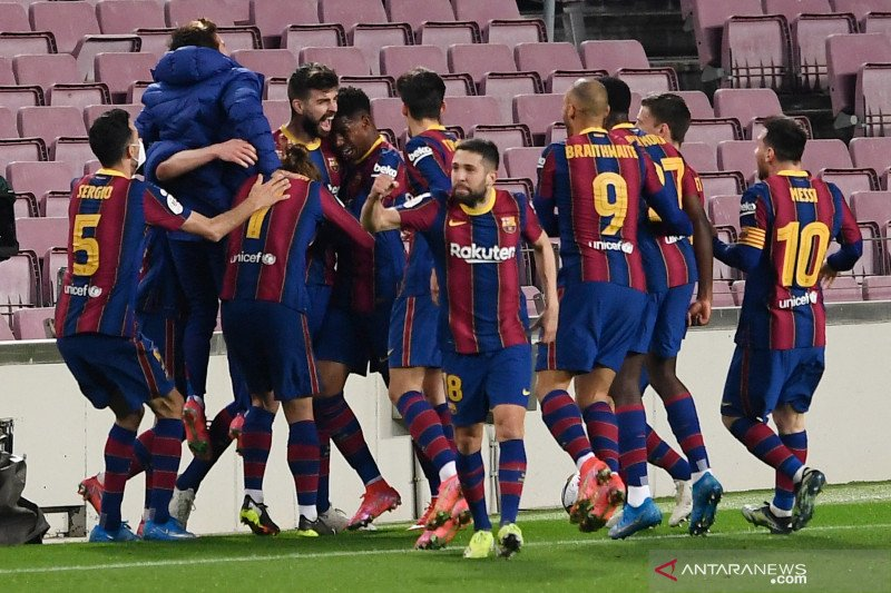 Barcelona melaju ke final Copa del Rey seusai comeback 3-0 lawan Sevilla