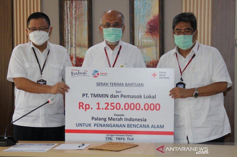 TMMIN dan perusahaan pemasok kirim bantuan untuk PMI tangani bencana