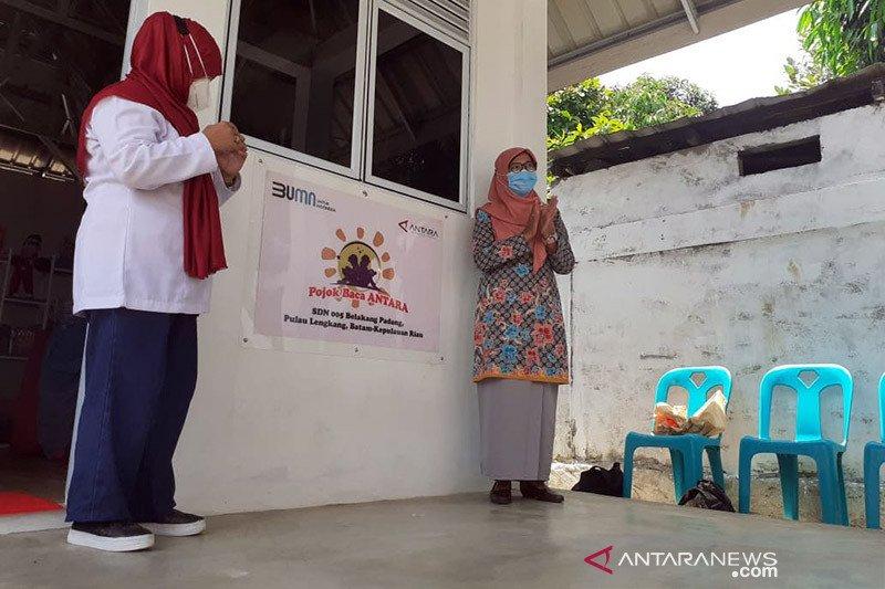 LKBN ANTARA bangun pojok baca di Pulau Lengkang