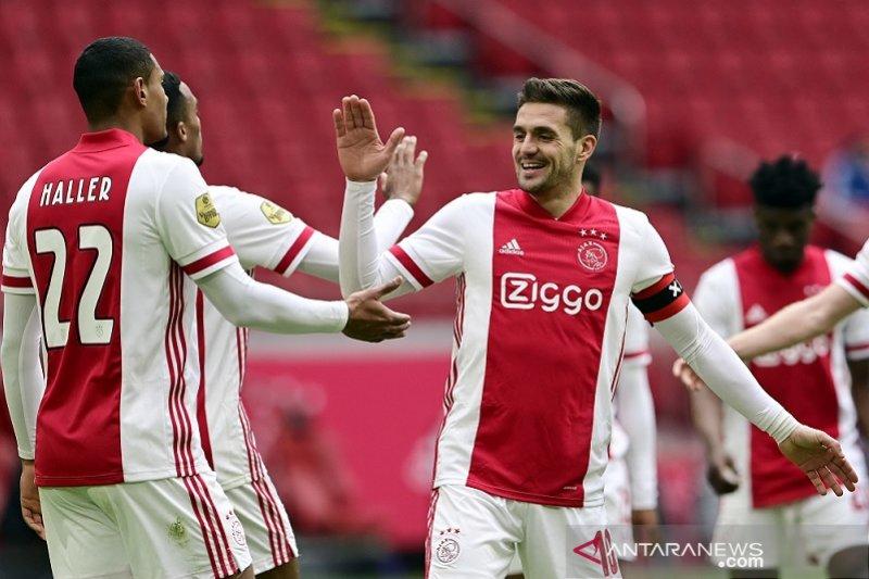 Hasil dan klasemen Liga Belanda: Ajax jaga jarak enam poin atas PSV