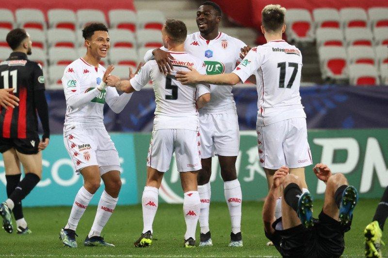 Monaco bungkam Nice 2-0 untuk lolos ke 16 Besar Piala Prancis