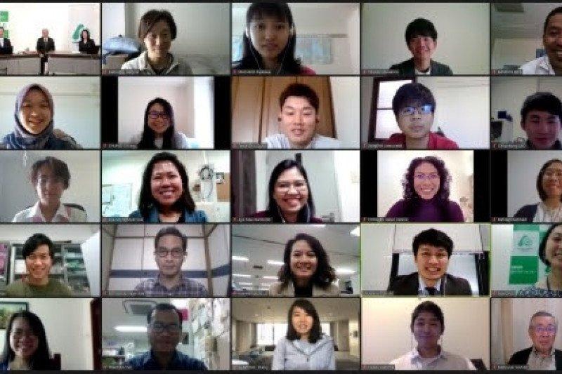 Upacara peluncuran deklarasi mahasiswa Jepang dan ASEAN diadakan online