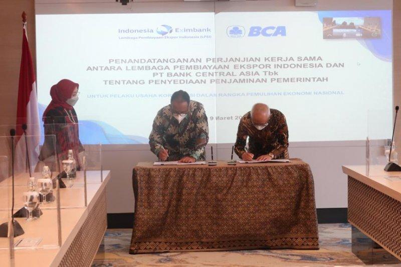 LPEI dan BCA kerja sama penjaminan bagi korporasi