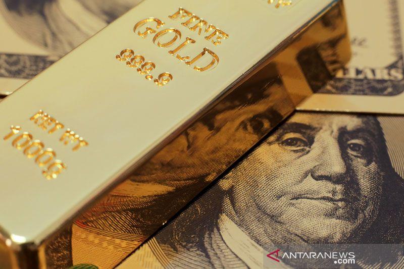 Emas jatuh 8,1 dolar tertekan kenaikan imbal hasil dan