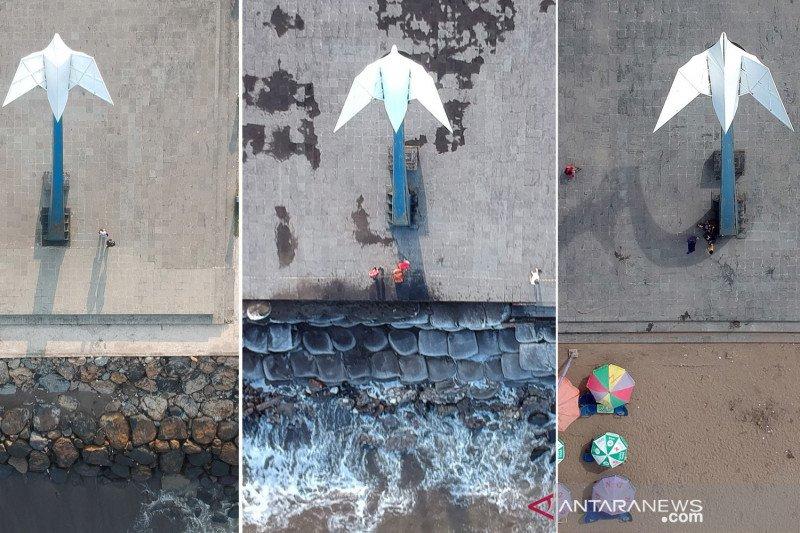 """Pembangunan """"sea wall"""" di Pantai Muaro Lasak Padang"""
