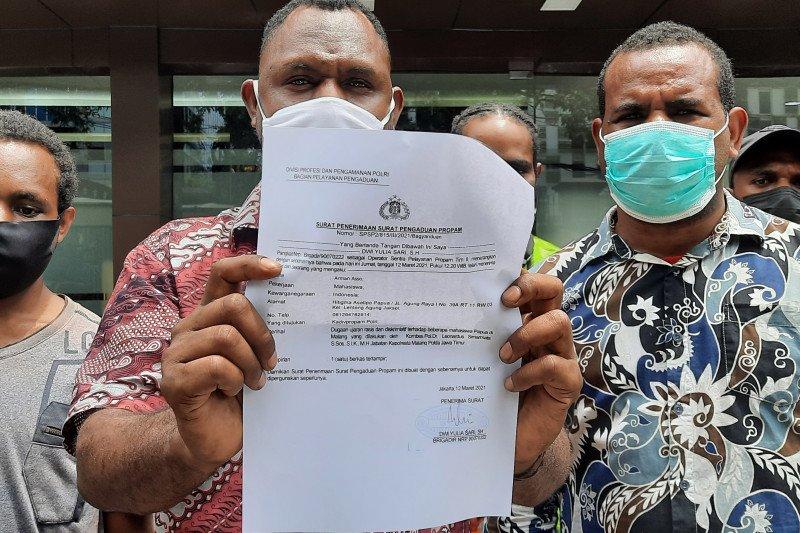Mahasiswa Papua laporkan Kapolres Malang ke Propam Polri