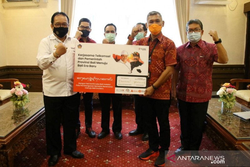 Telkomsel dukung Bali dalam penyebarluasan edukasi soal COVID-19