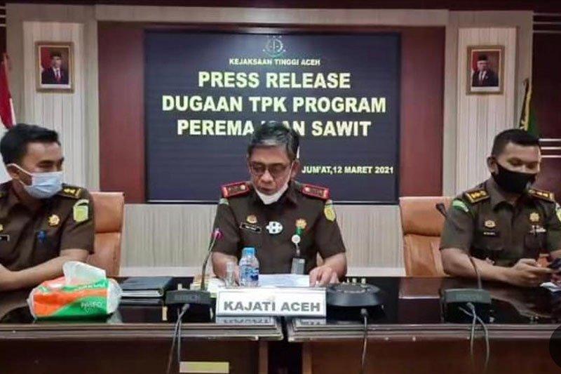 Kejati Aceh usut dugaan korupsi peremajaan sawit Rp684,8 miliar