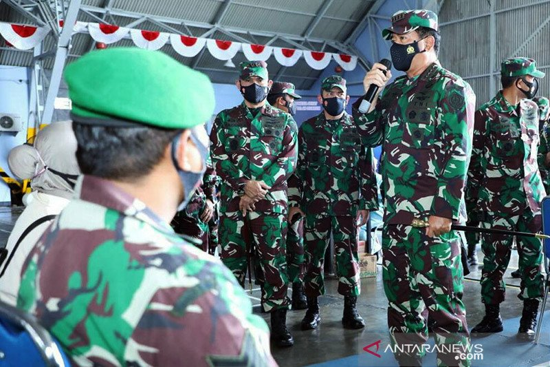 Panglima pimpin vaksinasi COVID-19 bagi prajurit TNI di Yogyakarta