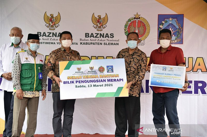 Baznas beri bantuan 23 bilik pengungsian bencana erupsi Merapi
