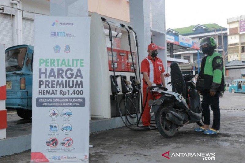 Pertamina berlakukan harga Pertalite setara Premium