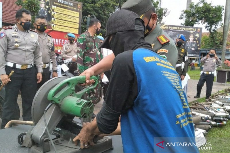 Polresta Bogor Kota musnahkan 363 knalpot bising sepeda motor