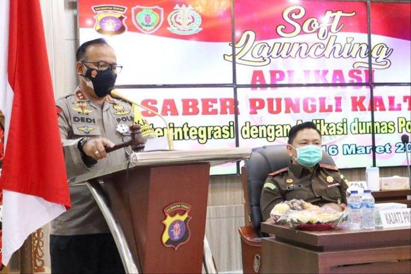 Polda Kalteng luncurkan aplikasi Saber Pungli