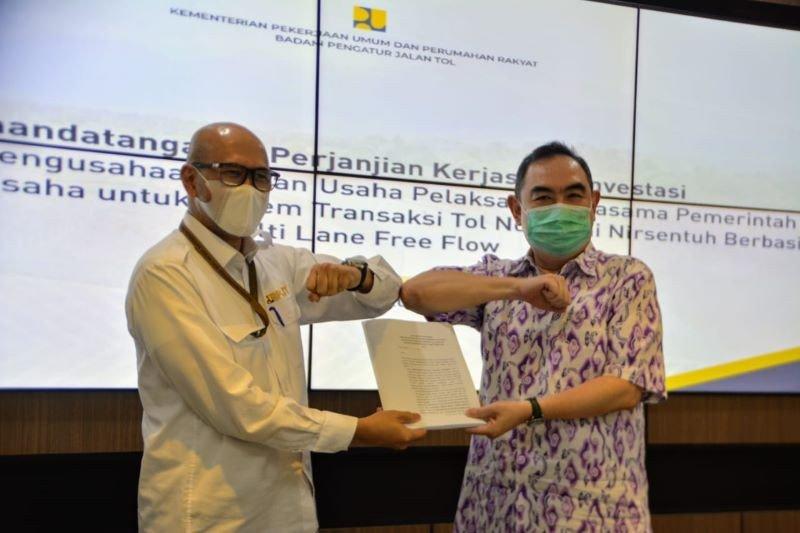 BPJT PUPR dan Roatex laksanakan perjanjian kerjasama terkait Tol MLFF