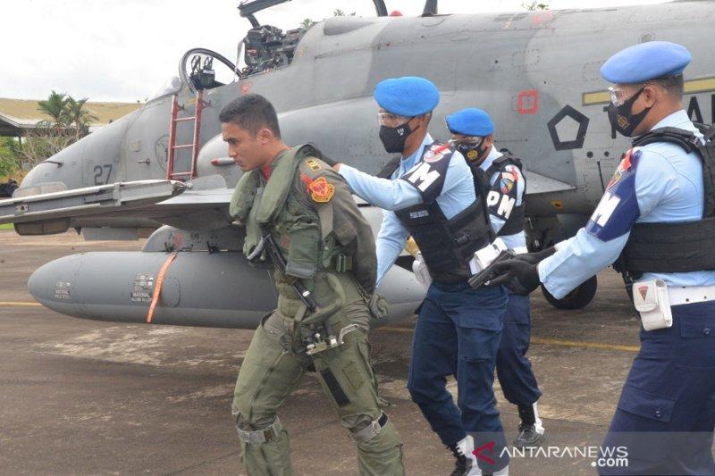Pangkalan Udara TNI AU Supadio simulasi daratkan paksa pesawat asing