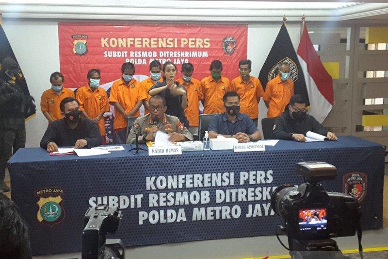 Polda Metro tangkap delapan pencuri suku cadang TransJakarta