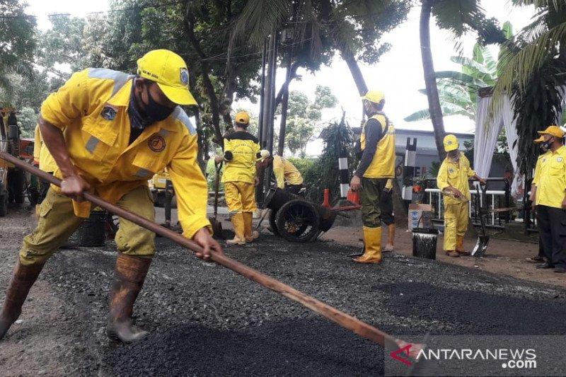 Pemkot Jaksel perbaiki 2.564 titik jalan berlubang