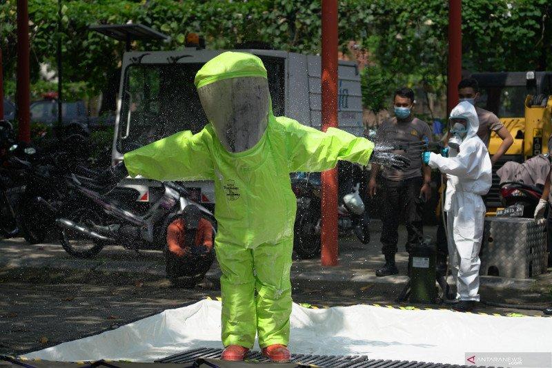 Simulasi ancaman ledakan bahan kimia berbahaya