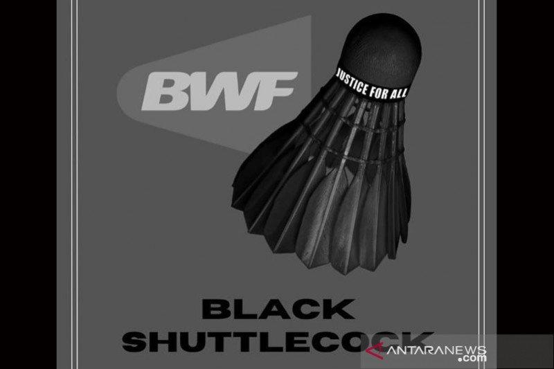 Selebritas dan warganet ramai unggah foto kok bulu tangkis warna hitam