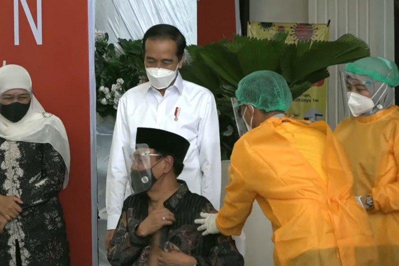 RSUD Sidoarjo paparkan alur vaksinasi kepada Presiden